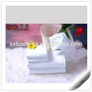 Toalhas de banho de qualidade 100% algodão Hotel Toalhas de banho baratas personalizadas Branco