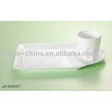 Set de petit-déjeuner spécial en porcelaine de couleur blanche JX-BS607