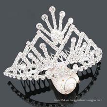 Pinza de pelo cristalina al por mayor de la tiara de los accesorios del pelo