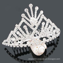 wholesale crystal hair accessories tiara hair clip