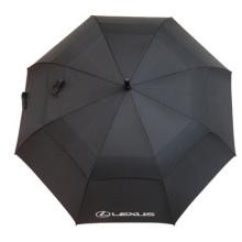 Parapluie double de parapluie de golf de tige droite, parapluie promotionnel