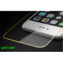 Film de protection écran tactile de téléphone mobile pour iPhone avec couverture latérale Gold Side