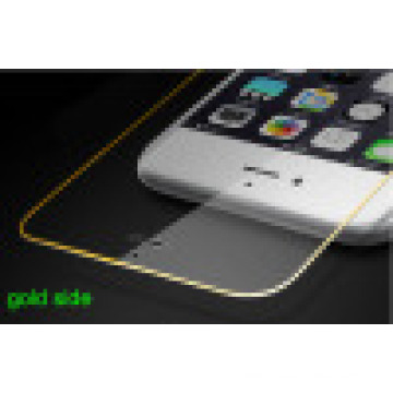 Mobile Phone Tempered Glass Screen Protective Film for iPhone with Gold Side Full Cover