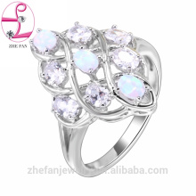 Silver jewelry diamond rose gold ring russian wedding ring Rhodium plated jewelry is your good pick