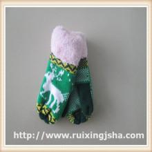 padrão crianças espoliar luvas forradas com cuff