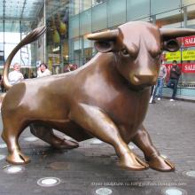 большой открытый скульптура металл ремесло Уолл-стрит бык статуя реплика