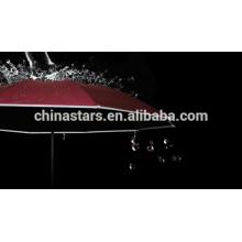 Parapluie imperméable à l'eau avec une tuyauterie réfléchissante Hi-visible