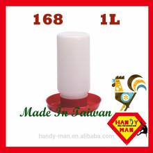 Avicultura de plástico para pintainhos Frango 1L Durable Jar Type Drinker