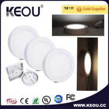 Superficie redonda de LED Panel luz ahorro de energía de alta eficiencia de CE/RoHS