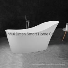 Luxuriant in Design Pure Acrylic Durable Soaking Freestanding White Bath Tub