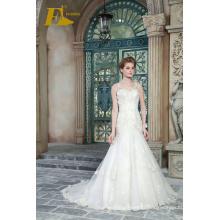 ED Bridal New Product V Neck Sleeveless Lace-up Sheath Wedding Dresses With Beads Appliqued 2017