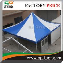 Design haut de gamme Tente de gazebo rayé blanc et bleu à 9x9M pour un festival de fête de réunion