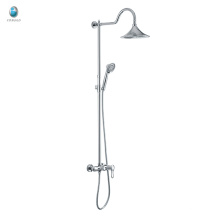 KH-06 hot sale bath shower mixer tap wall mounted chrome finished round tube rain shower, brass chrome bathroom rain shower