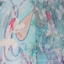 Tela del cordón de poliéster malla impresa para textiles para el hogar y la ropa