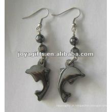 Magnético Hematite Dolphin Beads Brincos