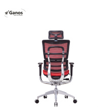 Ergohuman modern red color full leather office chair