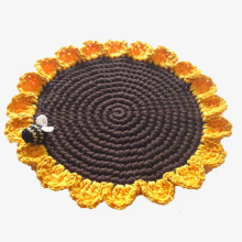 Handmade Milk Cotton Yarn Crochet Table Placemats Colorful Crochet Cup Coaster