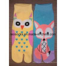 Girl Fashion Two Toe Socks