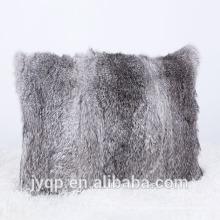 Cubierta del cojín de la piel del conejo 2018wholesale