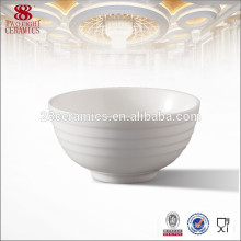 Cheap small white ceramic rice bowl for hotel daily use