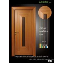 2017 Design porta madeira moldada de teca com design de couro centrado