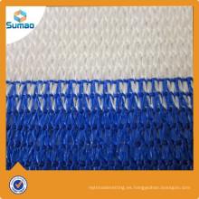 Resistente ULTRAVIOLETA blanco azul de la cerca de la red de la cortina del balcón del HDPE para al aire libre