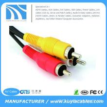 Câble audio stéréo auxiliaire RCA 3.5mm to 2 pour iPod iPhone 4 cordon d'enceinte 4s