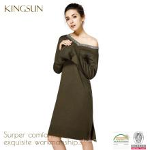 Women 100% merino wool dress, Long Sleeve dress