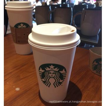 Alta qualidade do copo de papel do café com único PE