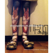 2016 fashion new design black and white Japan Asian sex leg tattoo stocking tube