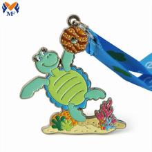 Custom ocean theme metal sea turtle medals
