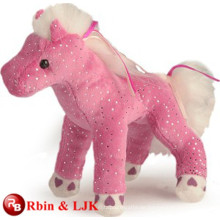 ICTI Audited Fabrik Plüsch rosa musikalischen Pferd Spielzeug
