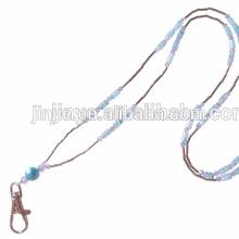Moda artesanal cordão colar de cordão de cristal