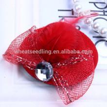 6 colors unique designs hat shaped fashion kids hair clips