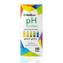 Kit de teste de pH para urina e saliva