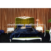 Gold foil finished french style bedroom furniture BD8017