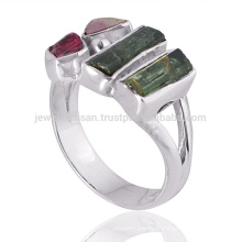 New Arrival Tourmaline Gemstone 925 Sterling Silver Ring Wholesale Supplier Jewelry