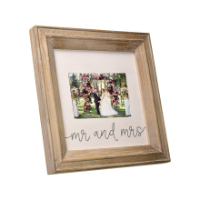 Hot Selling Design walnut 8*8 Wedding Photo Frame Wooden Frame with Stand up for home decoration