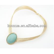 Collier de mode collier en résine collier pendentif