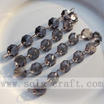 Wedding Decoration Acrylic Beaded Chains With Octagonal Beads