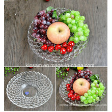 Fashion Crystal Glass Fruit Bowl for Tableware