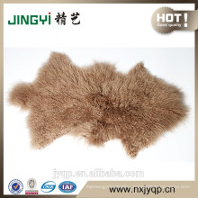 2017 China Suppliers curly lamb skin fur Sheep Mat