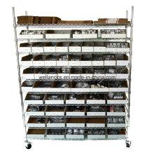 Rack de exhibición del estante del alambre del metal de cromo de 800lbs para el almacenaje del almacén