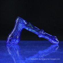 Großhandel Glas Pelz Bubbler für Rauchen mit 2 Farbe (ES-HP-078)
