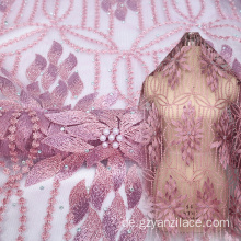 Wein Perlen Spitze Indian 3D Lace Fabric