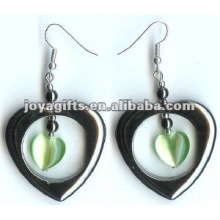 Mode-Hämatit-Katzenaugen-Perlen-Ohrring