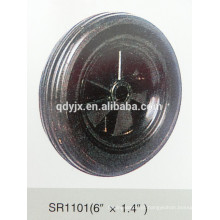 "roda de borracha maciça 6 ""X1.4"""