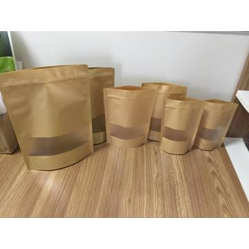 Kertas Kraft Stand Up Pouch With Window