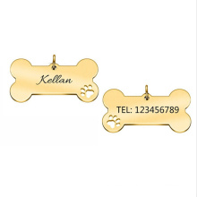 New Arrival Stainless Steel Army Brand Bone Pet Dog Tag Hollow Collar Anti-Lost Nameplate