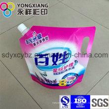 Detergente de lavandería personalizado Stand Up Spout Packaging Bag